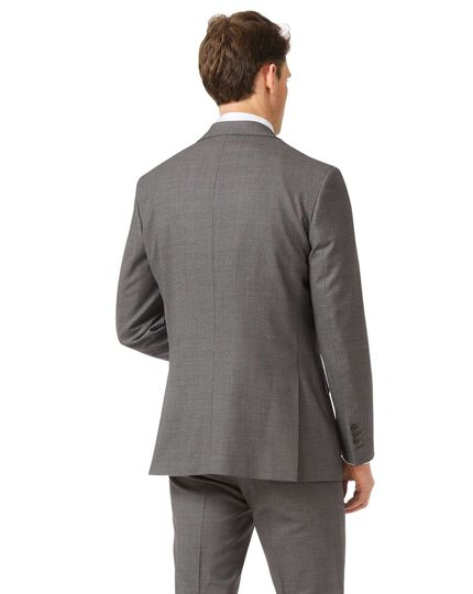 Grey slim jaspé business suit jacket