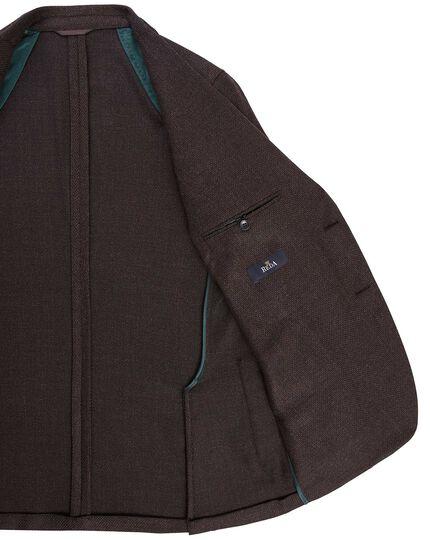 Veste en laine et cachemire italiens marron foncé slim fit