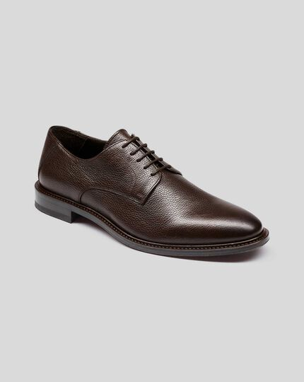 Flexible Sole Derby Shoe - Brown