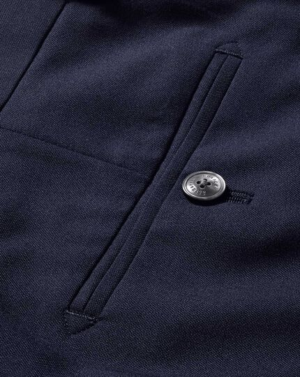 Navy slim fit light weight wool pants