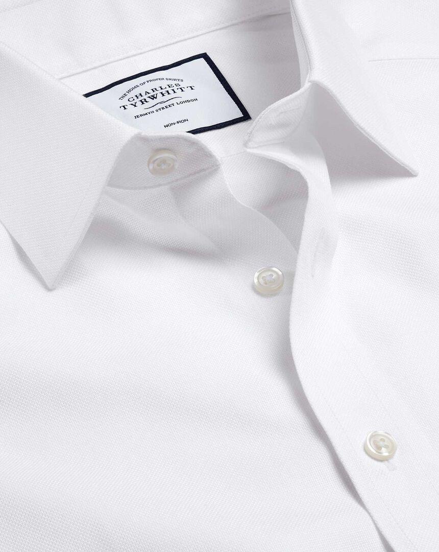 Bügelfreies Royal-Oxfordhemd - Weiß