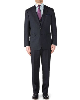 Navy slim fit end-on-end business suit
