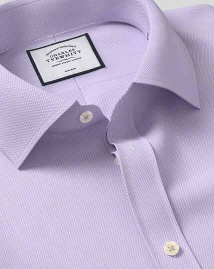 Bügelfreies Hemd mit Micro-Diamond-Muster - Lila