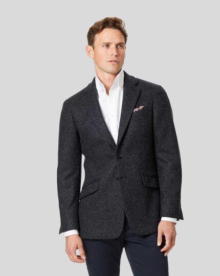 Textured Jersey Jacket - Grey