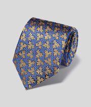 Silk Floral English Luxury Tie - Gold
