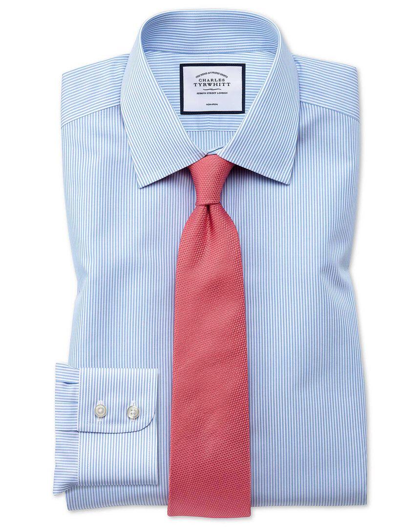 Non-Iron Bengal Stripe Shirt- Sky Blue