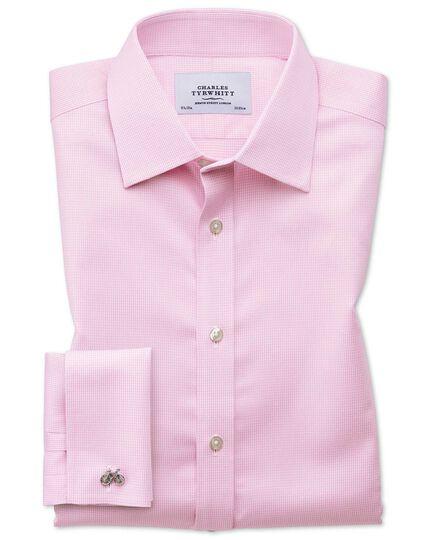 Slim fit non-iron puppytooth light pink shirt