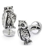 Antique owl cufflinks