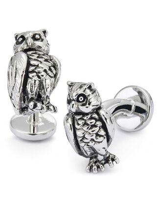 Antique owl cufflinks
