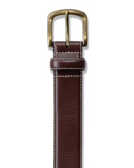 Brown leather chino belt