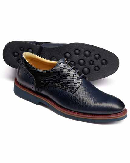 Navy extra lightweight Derby shoes