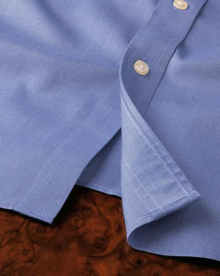 Chemise bleue en twill extra slim fit sans repassage