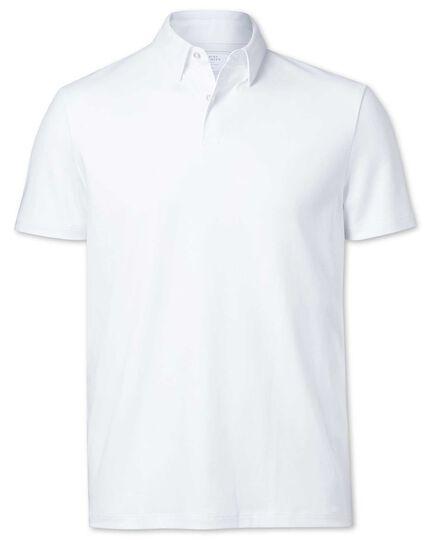 Polo blanc en jersey