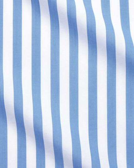 Slim fit non-iron Jermyn street stripes sky shirt