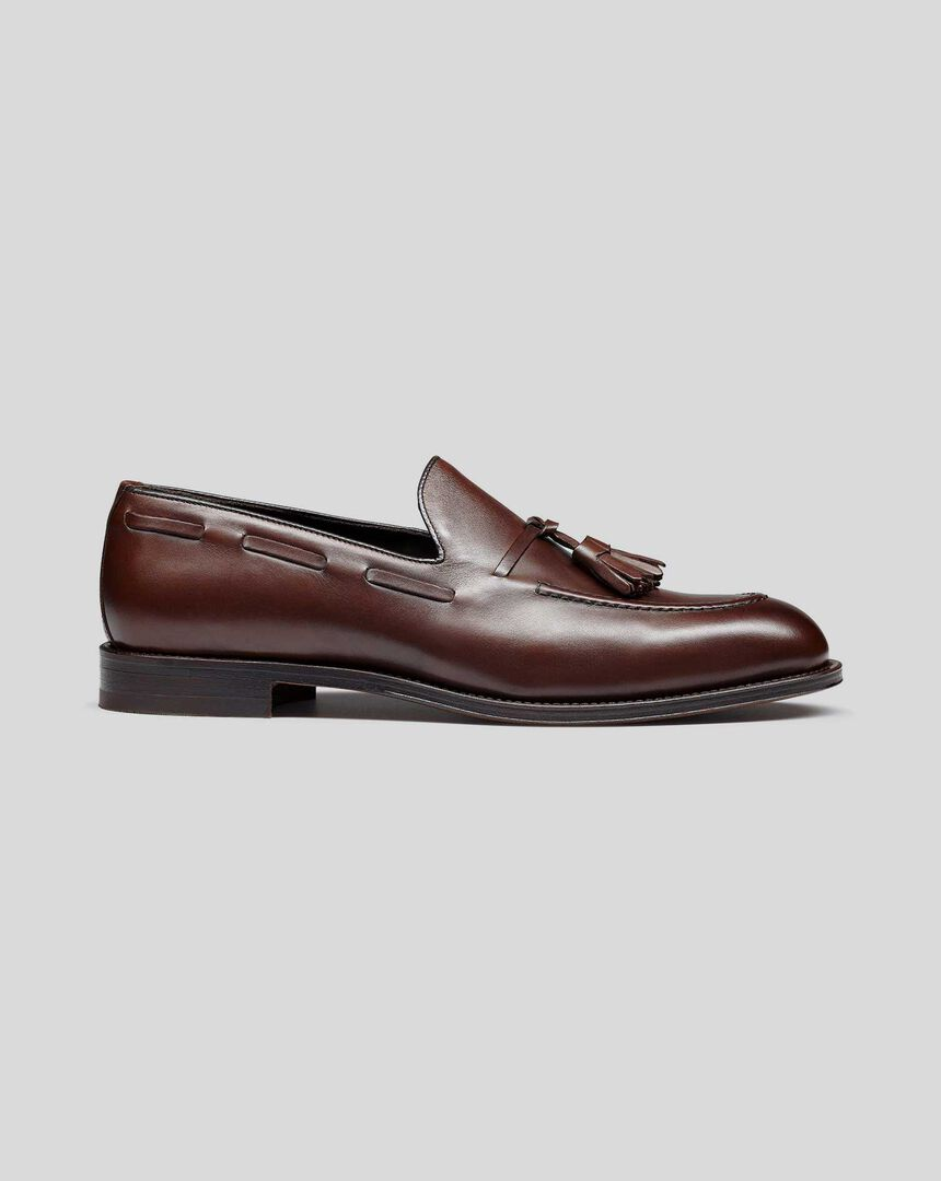 Flexible Sole Tassel Loafers - Chocolate
