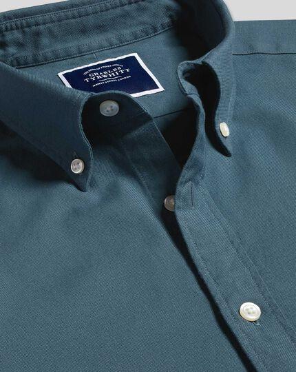 Oxford Hemd mit Button-down-Kragen - Mittelblau
