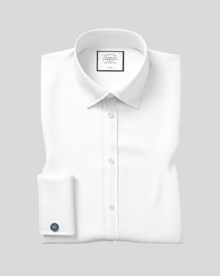 Classic Collar Non-Iron Royal Oxford Shirt  - White