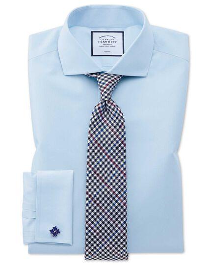 Klassische Krawatte aus Seide mit Gingham-Karos in Beerenrot und Blau