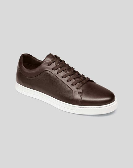 Leather Sneakers - Chocolate