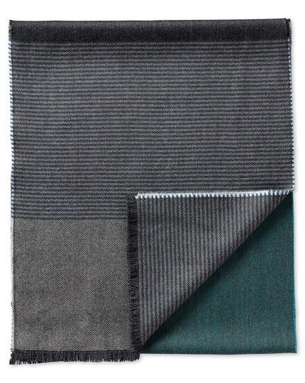 Blue stripe merino scarf
