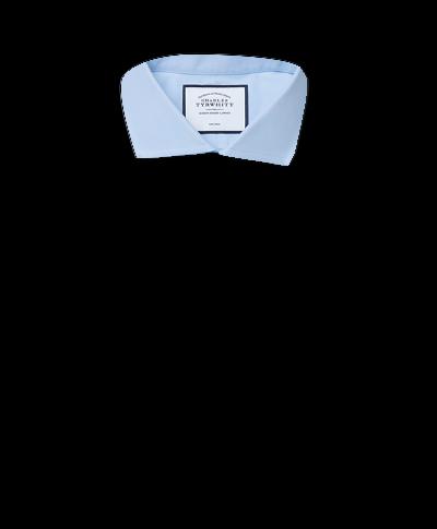 Slim fit cutaway non-iron twill sky blue shirt
