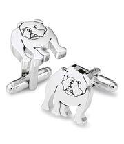 Manschettenknöpfe mit Bulldoggendesign in Silber