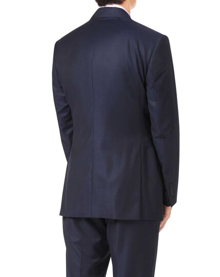 Navy slim fit luxury italian suit jacket