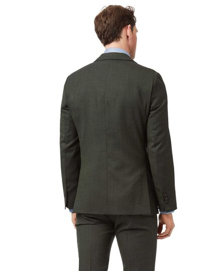 Green extra slim fit merino business suit jacket