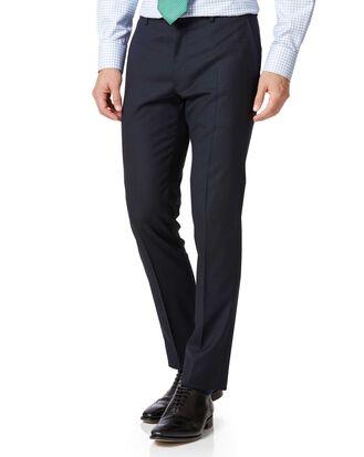 Midnight blue extra slim fit merino business suit pants