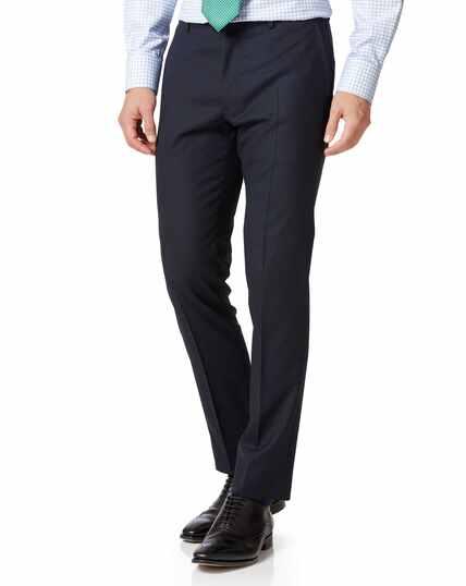 Extra Slim Fit Businessanzug-Hose aus Wolle in Mitternachtsblau