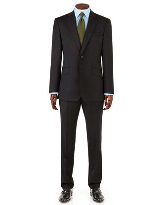 Black slim fit Italian suit