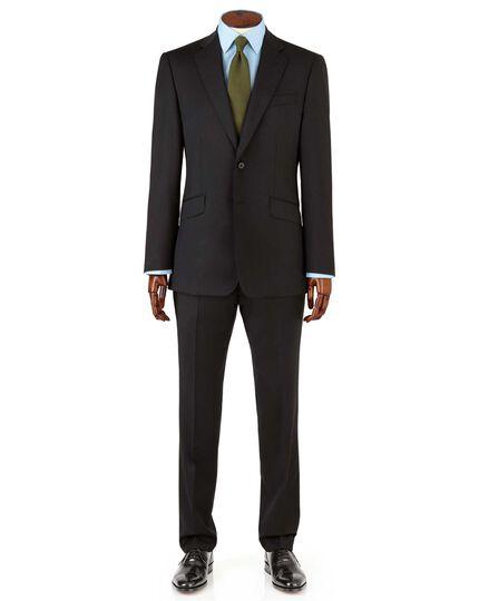 Black slim fit Italian suit jacket