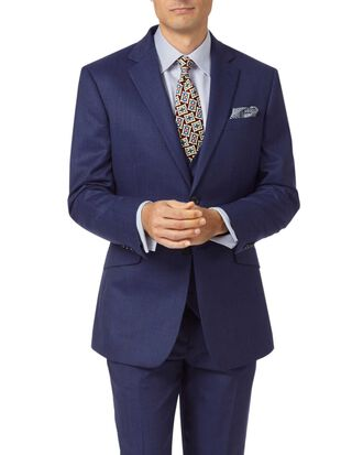 Indigo slim fit hairline business suit jacket