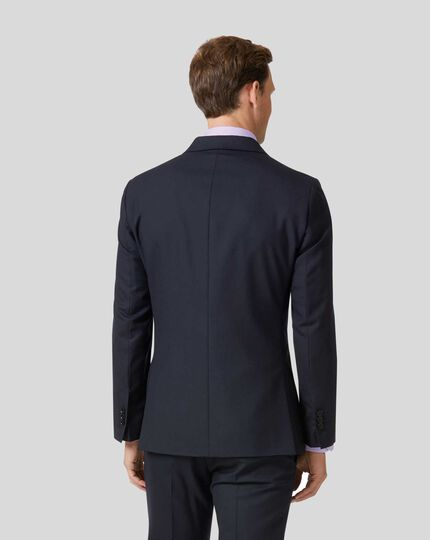 Business Suit Double Breasted Jacket - Midnight Blue