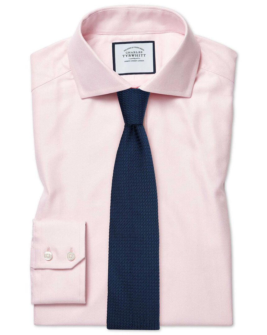 Extra slim fit cutaway cotton stretch with TENCEL™ pink shirt