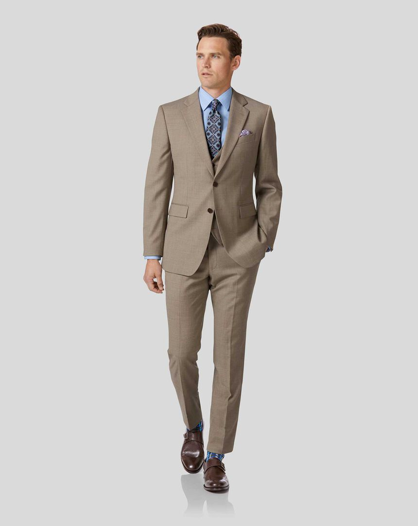 Twill Business Suit - Fawn