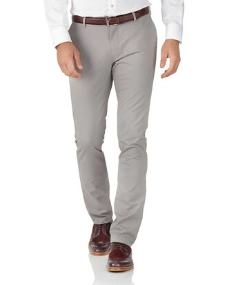 Extra Slim Fit Stretch chino Hose in Grau