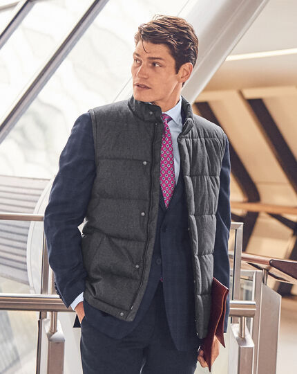 Quilted Vest - Dark Grey