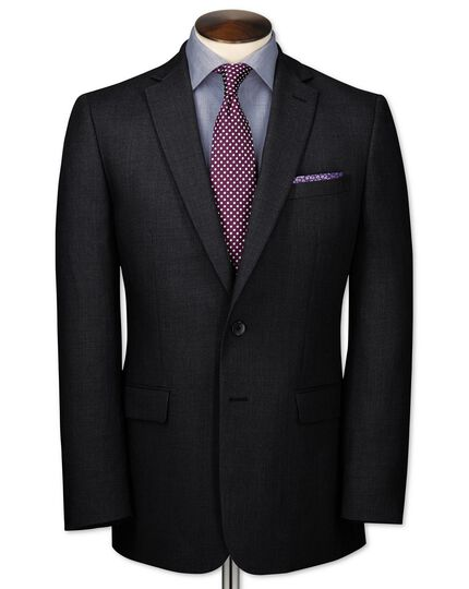 Charcoal slim fit business suit jacket