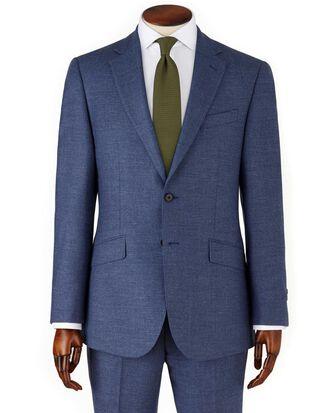 Airforce blue slim fit flannel business suit jacket