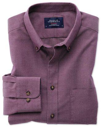 Extra slim fit button-down non-iron twill purple shirt