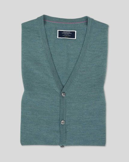 Merino Sweater Vest - Teal Melange