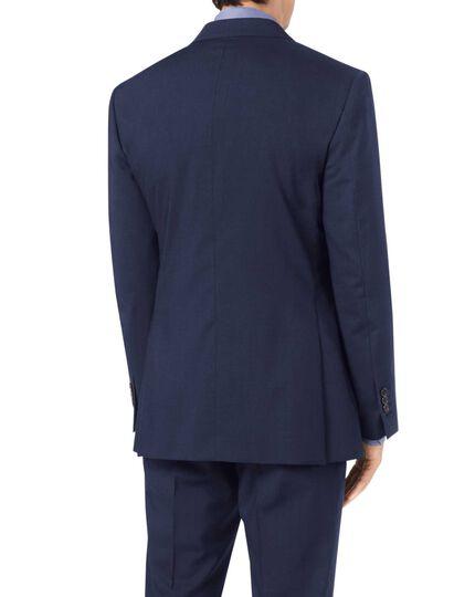 Navy slim fit step weave suit jacket
