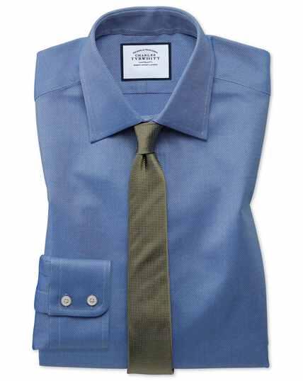 Chemise bleu roi en oxford royal de coton égyptien extra slim fit
