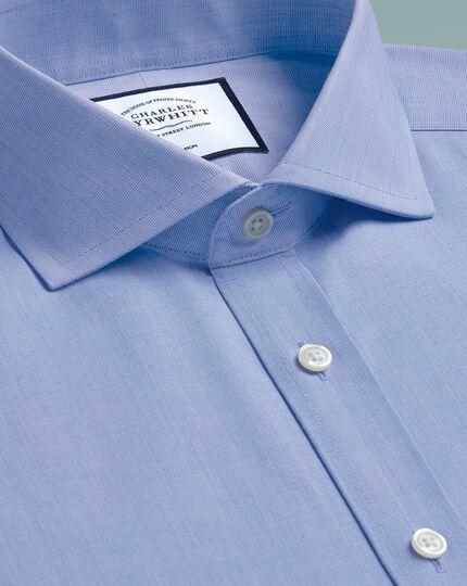 Bügelfreies Slim Fit Hemd mit 4-Way-Stretch in Blau