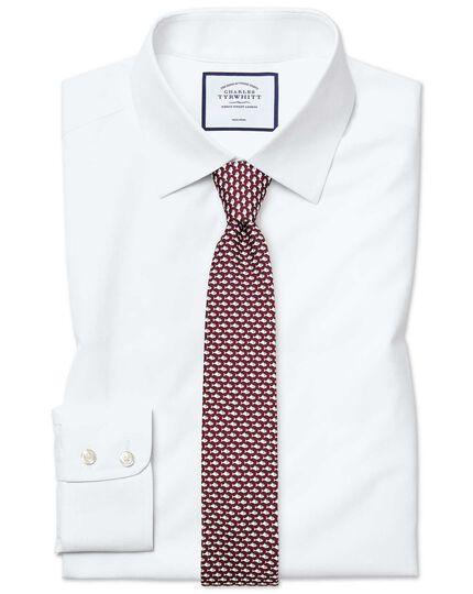 Chemise blanche extra slim fit en popeline sans repassage