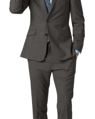 Costume en laine mérinos business gris slim fit