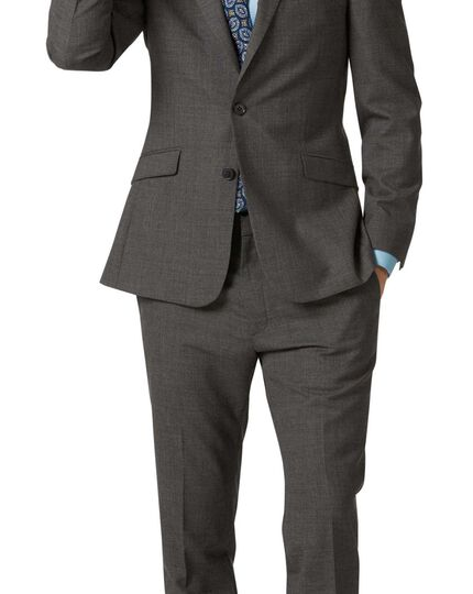 Veste de costume business grise en laine mérinos slim fit