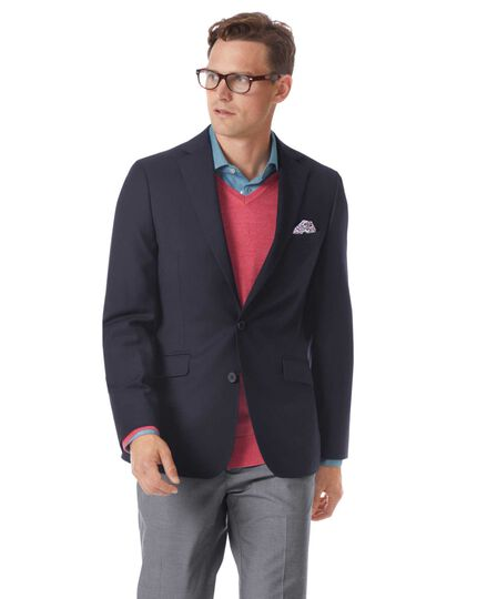 Extra slim fit navy city blazer