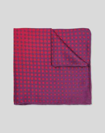 Gradient Spot Print Pocket Square - Purple & Red